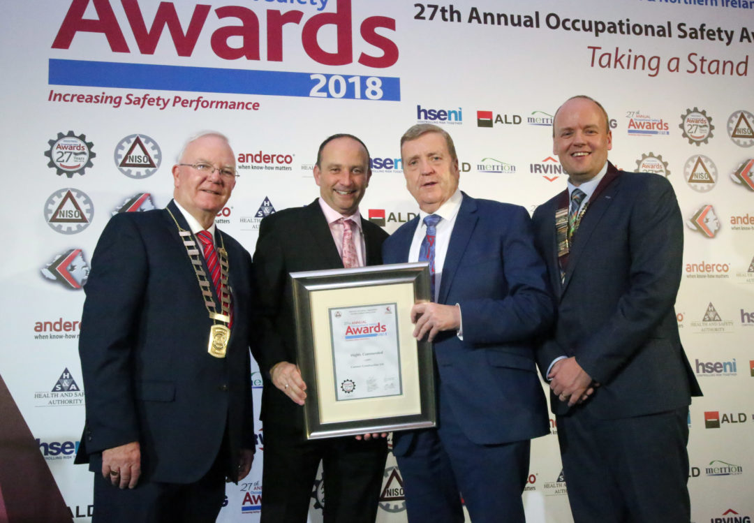 Cumnor Success At The NISO / NISG All Ireland Safety Awards 2018