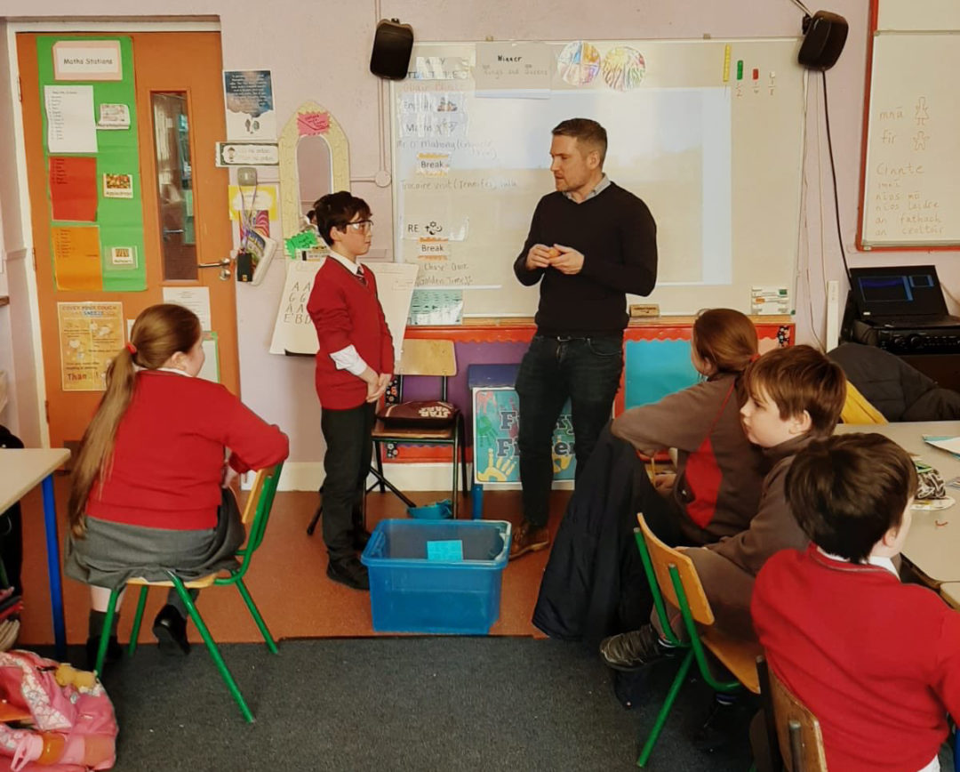 Engineers Week at Scoil Chroi Iosa with Cumnor Construction Ltd