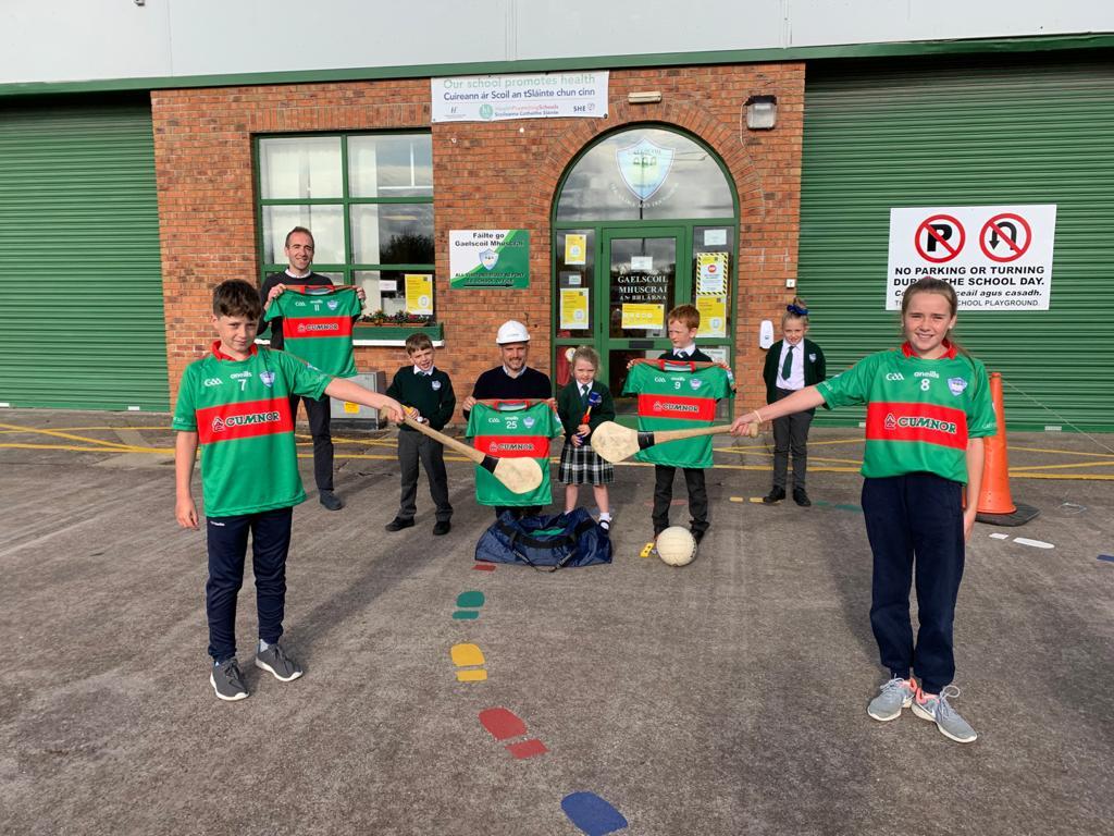Cumnor Sponsors Gaelscoil Mhuscraí GAA jerseys.